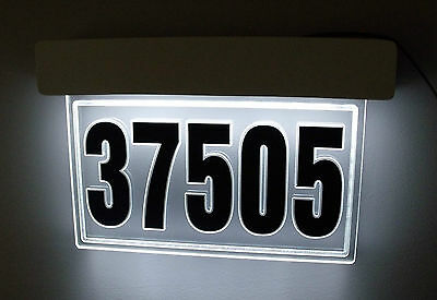 Hq Lighted Panel For Address Sign. Led House Number Illuminated Address Plaque
