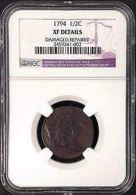 1794 1/2 Cent!  XF Details! Certified by NGC!