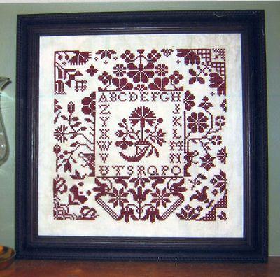 Quaker Floral Counted X-Stitch Pattern