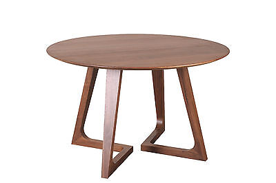 "48"" round dining table solid american walnut contemporary modern clearance"
