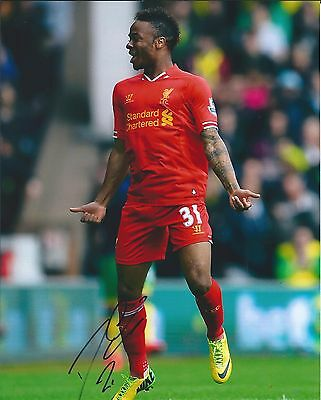 RAHEEM STERLING SIGNED AUTOGRAPHED 8X10 PHOTO LIVERPOOL FC ENGLAND #2