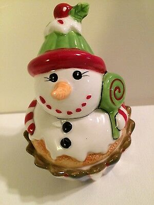 Fitz And Floyd Christmas Lidded Confections Box, Snowman