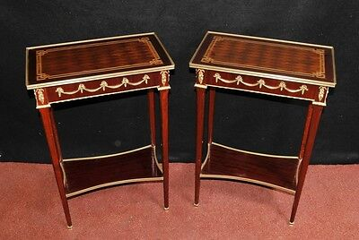 Pair French Neo Classical Side Tables Cocktail Table