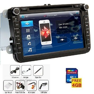 "8"" VW Volkswagen DVD GPS Navi Car Stereo Radio Audio Player+Free Map"
