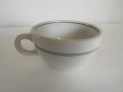 Green Stripe Restaurant Ware cup from Shenango