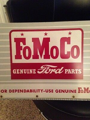 Vintage Orig. FoMoCo Ford Motor Company (metal) parts box, Sign