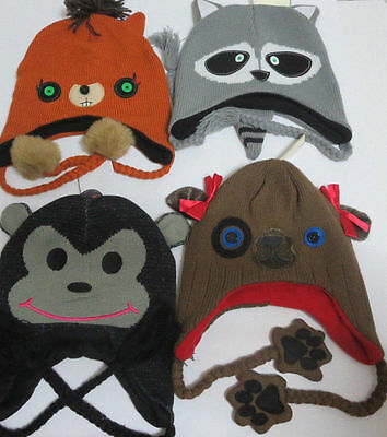 CUTE ANIMAL Winter Knit Beanie Adult Hat Cap CLEARANCE SALE