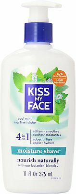 Kiss My Face Cool Mint Moisture Shave, 11-Ounce Pumps (Pack of 4) , New, Free Sh