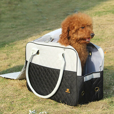 Cat Dog Pet Bag Puppy Carrier Folding Carry Handbag Travel Airline Bags S Black