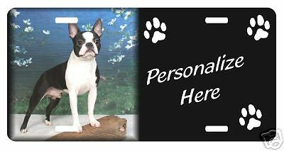 Boston Terrier  #1  Personalized License Plate