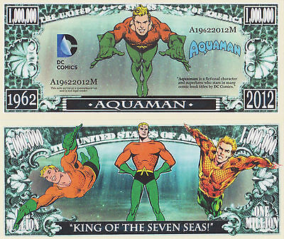 RARE: Aquaman $1,000,000 Novelty Note, Comics, Buy 5 Get one FREE