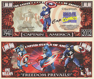 RARE: Captain America 1,000,000 Novelty Note, Comics, Buy 5 Get one FREE