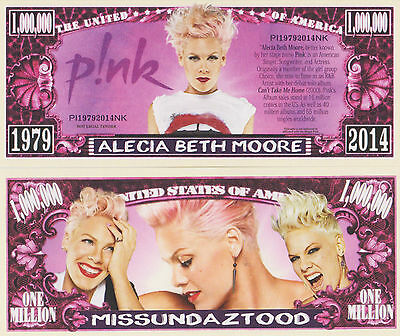 RARE: Pink $1,000,000 Novelty Note, Music. Buy 5 Get one FREE