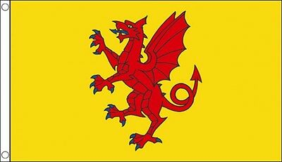 3' x 2' Somerset Flag Yellow Background England English County Banner