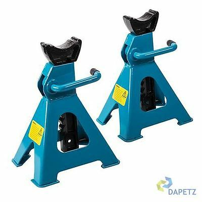 2x 3 Ton Tonne Heavy Duty Car Caravan Vehicle Axle Stands Stand Trolley CE Pair