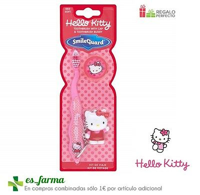 Kit Dental Infantil Hello Kitty Cepillo Dientes Suave + Regalo Llavero