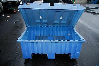 Nesting Forklift Bins With Lids, Surplus Containers