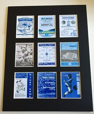 "Birmingham City Fc Retro Posters 14"" By 11"" Picture Mounted Ready To Frame"