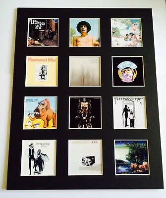 "Fleetwood Mac 14"" By 11"" Lp Discography Covers Picture Mounted Ready To Frame"