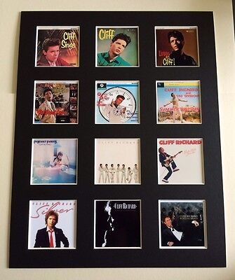 "Cliff Richard 14"" By 11"" Lp Covers Picture Mounted Ready To Frame"