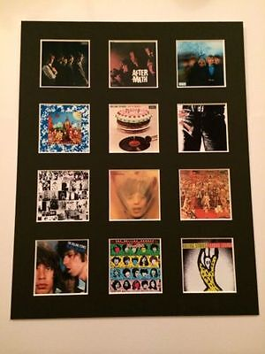 "Rolling Stones 14"" By 11"" Lp Discography Covers Picture Mounted Ready To Frame"