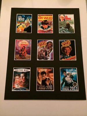 """Dr Who Retro Posters 14"""" By 11"""" Picture Mounted Ready To Frame"""