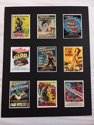 "1950's Sci - Fi  Retro Tour Posters 14"" By 11"" Picture Mounted Ready To Frame"