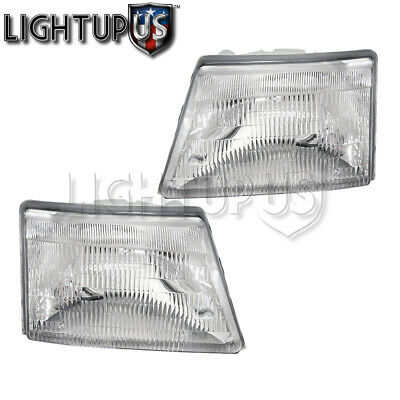 Headlights Headlamps for 1998-2000 FORD RANGER Pickup Left Right Sides Pair