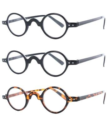Fiore 3 PACK Clear Professor Reading Glasses, Featuring Spring Hinge Readers 108