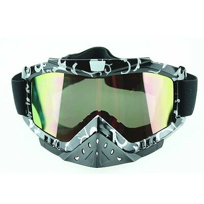 Quad Dirt Bike Tinted MX Motocross Racing Goggles Glasses UV Protection Anti-Fog