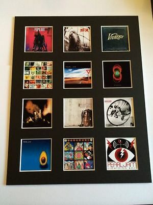 "Pearl Jam 14"" By 11"" Lp Discography Covers Picture Mounted Ready To Frame"