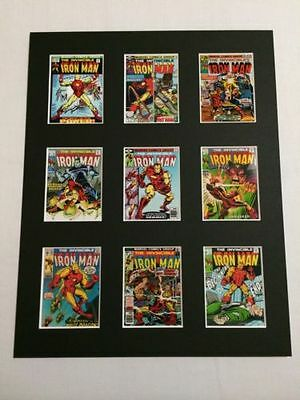 "Iron Man Retro Posters 14"" By 11"" Picture Mounted Ready To Frame"