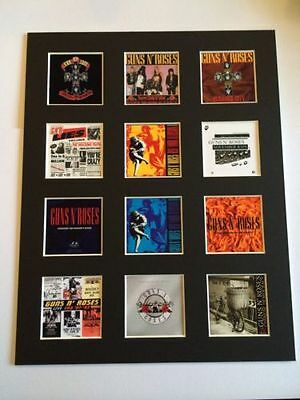 "Guns N Roses 14"" By 11"" Lp Discography Covers Picture Mounted Ready To Frame"