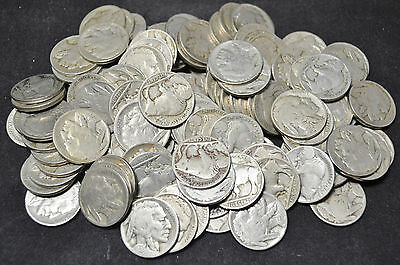 #3646 - Mixed Lot of 113 - Partial Date - Buffalo Nickels
