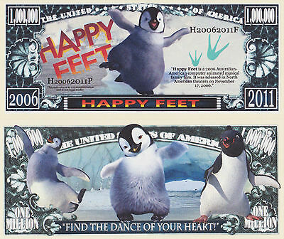 RARE: Happy Feet $1,000,000 Novelty Note, Movies Buy 5 Get one FREE