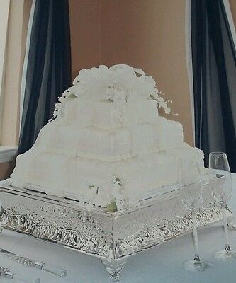 Silver Wedding Cake Stand - Square