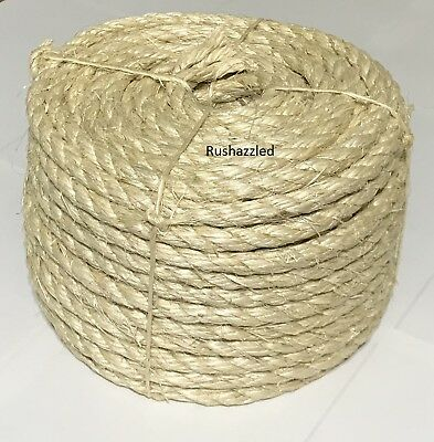 """3/8"""" X 100' Natural Sisal Rope CAT SCRATCHING POST Claw Control Toy Crafts Pet"""