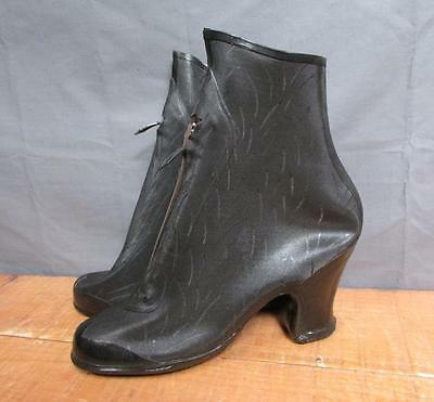 Vintage 1940s BF Goodrich Womens high-heel Galoshes Rain Over-Shoes NOS  5 1/2
