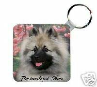 Keeshond        Personalized   Breed  Key  Chain