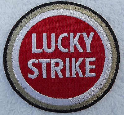 Lucky Strike Classic embroidered cloth patch.    D010105