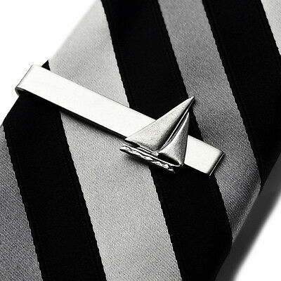 Sailboat Tie Clip - Tie Bar - Tie Clasp - Business Gift - Handmade - Gift Box