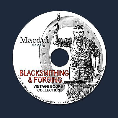 Blacksmithing & Forging Vintage Books Collection 33 PDF E-Books on 1 DVD Anvil
