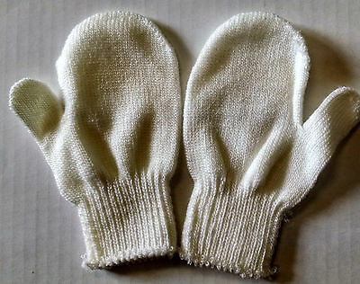 2  Pair Toddlers Winter Knit Mittens Stretchy One Size
