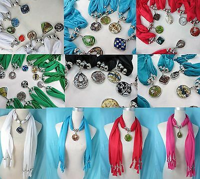 *US Seller*lot of 12 pendant scarf lampwork Murano glass necklace handmade charm