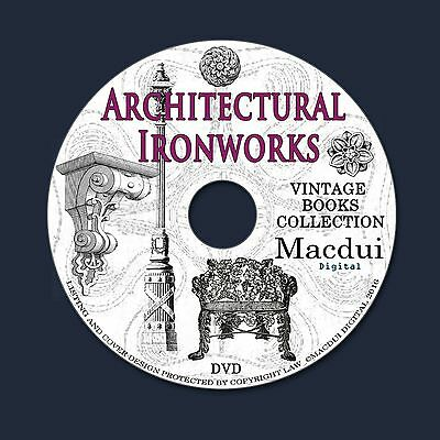 Architectural Ironworks Vintage Books Collection 39 PDF E-Books on 1 DVD Fence