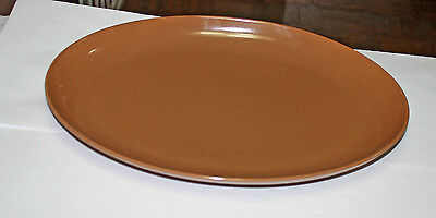 Vintage Russel Wright Iroquois Nutmeg Brown Oval Platter 14""