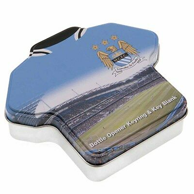 Man City Keyring & Key Blank Set - Official Club Product - Ideal Football Gift
