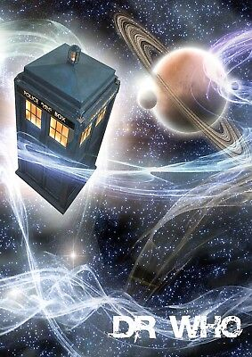 Dr Who Tv Series Phonebox Glossy Wall Art Poster Print (All Sizes Available!)