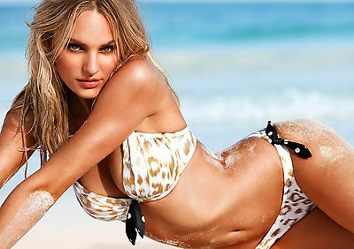 Candice Swanepoel Victoria's Secret Model Glossy Wall Art Poster Print