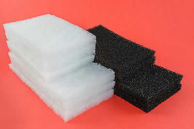 Aqua One 620 compatible: 20 Poly Wool & 6 Carbon Impregnated Foam Filter Pads